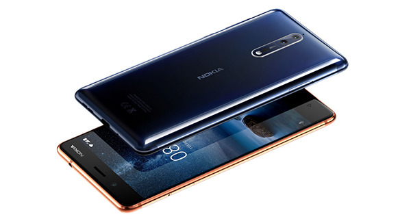 Nokia 8 blauw koper