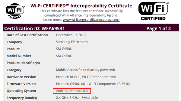 samsung-galaxy-s8-android-8-oreo-wi-fi-certificatie