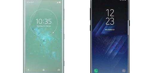 Samsung-Galaxy-S8-Sony-Xperia-XZ2