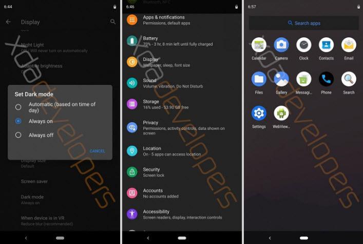 Android-Q-Dark-Mode