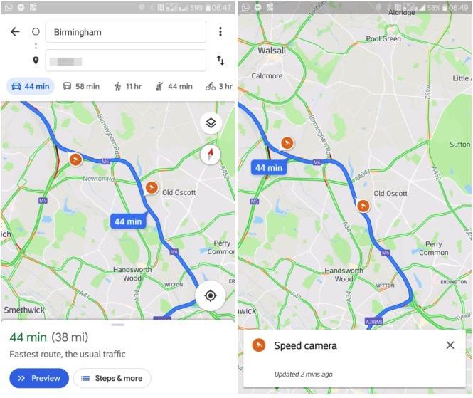 Google-Maps-Flitspalen