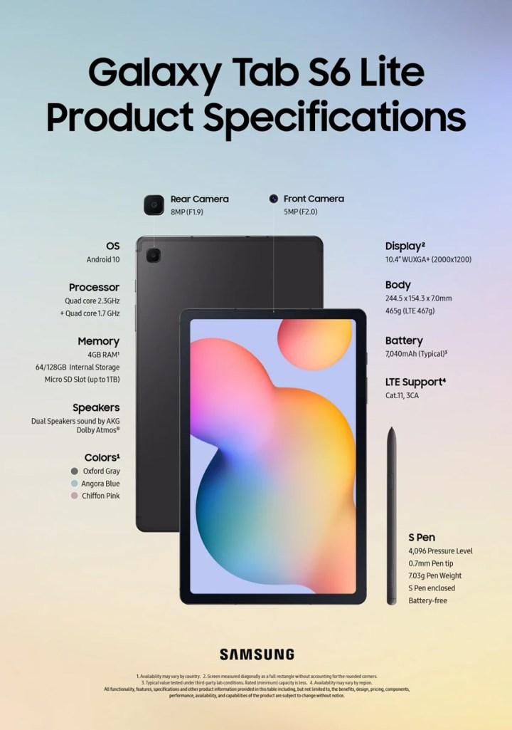 Samsung-Galaxy-Tab-S6-Lite-specificaties