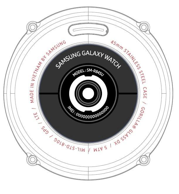 Samsung-Galaxy-Watch-FCC-schets