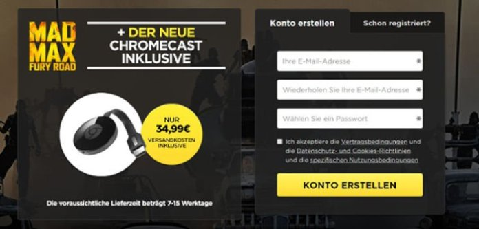 Angebot: Chromecast 2 + Film Mad Max Fury Road für 34,99 Euro 2