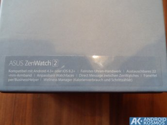 Test / Review: ASUS ZenWatch 2 (WI501Q) Smartwatch mit unboxing Video 1