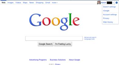 google-homepage-test-feb2011-2
