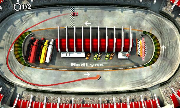 Nomen est Omen - die Steuerung des Fahrzeugs erfolgt in Draw Racer II vor dem eigentlichen Rennen