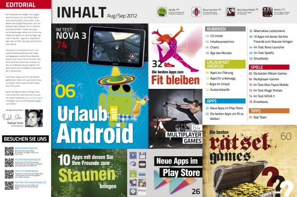 Android Apps 2 - Inhaltsverzeichnis
