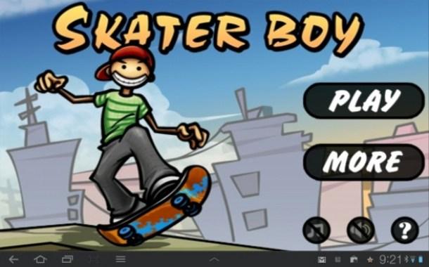 So präsentiert sich Skater Boy gleich nach dem Start der App