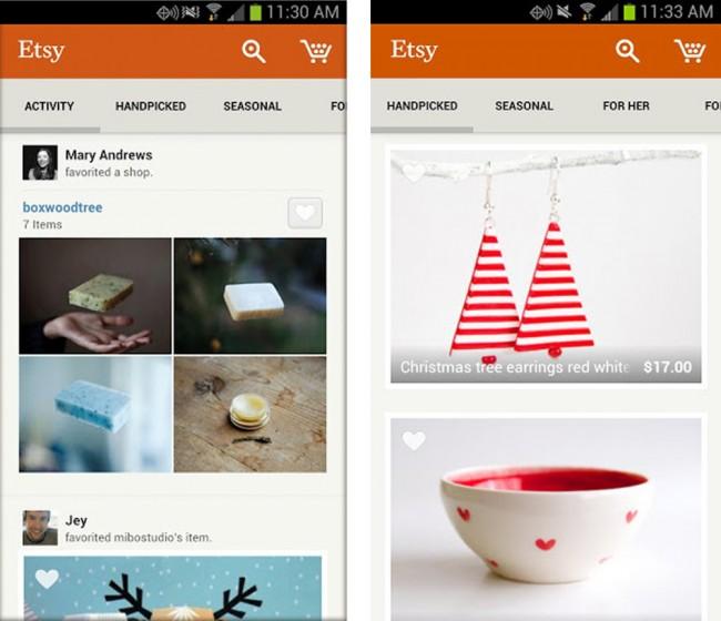 Etsy hat sich auf den Kauf und Verkauf von handgemachten Produkten spezialisiert.