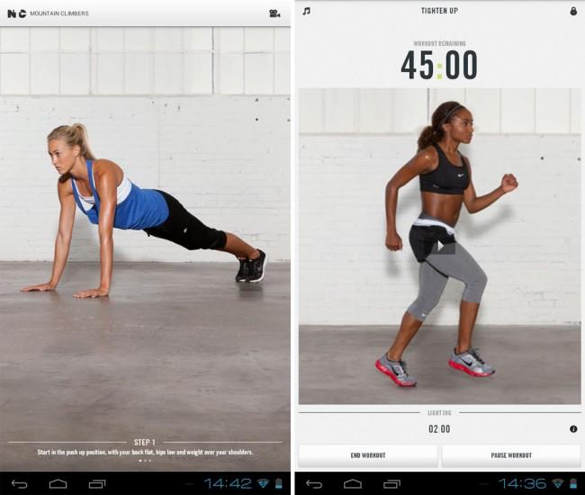 Clevere Übersicht: im Übungs-Hauptmenü finden sich alle wichtigen Informationen rund um das aktuelle Workout.