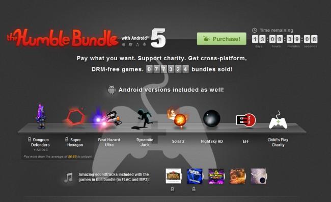 Auch das Fünfte Humble Bundle bietet wieder einige interessante Spiele zum Schnäppchenpreis.