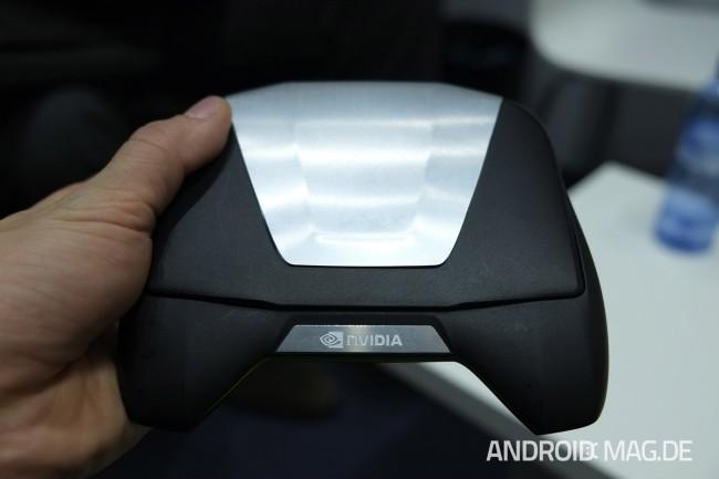 nVidia zeigte die auf der CES vorgestellte mobile Konsole Project Shield. Foto: androidmag.de