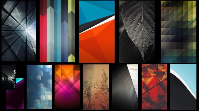 Die Wallpapers bringen ein wenig Sense 5-Feeling auf die Smartphones.