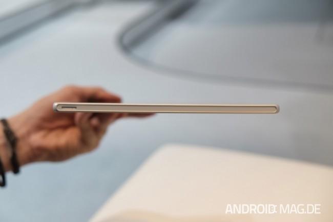 Mit 6,9 Millimetern ist es das derzeit dünnste Tablet auf dem Markt. Foto: androidmag.de