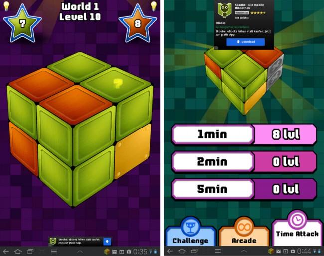 Drei Spielmodi und unzählige Levels sorgen für langanhaltende Spielmotivation.