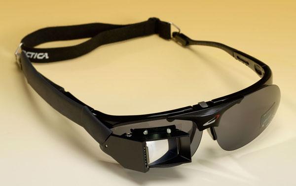 Datenbrille des Fraunhofer-Institut filmt die Augenbewegungen zur Steuerung / Bildquelle. Fraunhofer-Institut