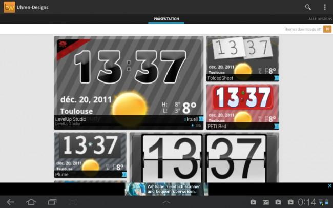 Mit verschiedenen Designs für deine Widgets lässt sich dein Homescreen leicht an deine Bedürfnisse anpassen.