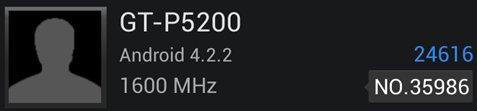 Galaxy Tab 3: Die Werte des AnTuTu-Benchmarks überzeugen. (Screenshot: mobilegeeks)