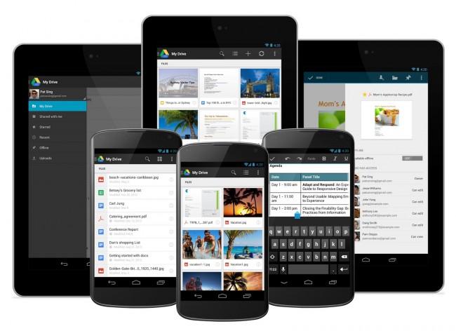 Google Drive auf Smartphones und Tablets