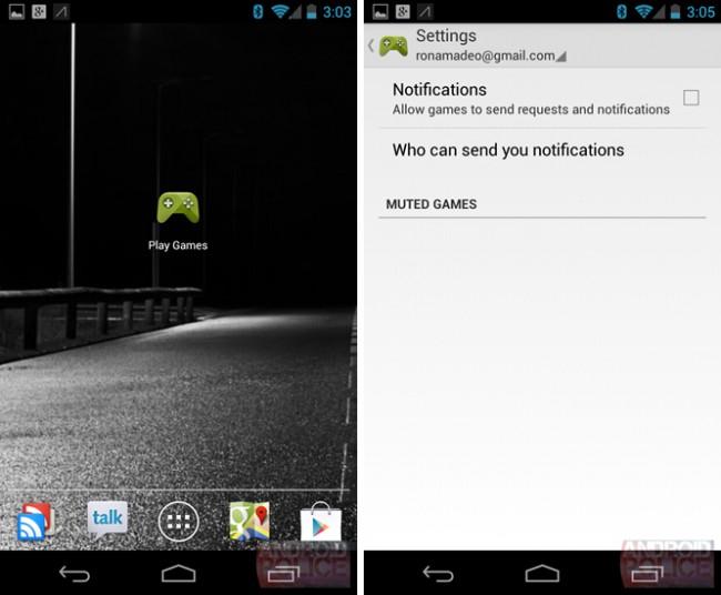 App-Symbol des Games Center und Einstellungen / Bildquelle: Android Police