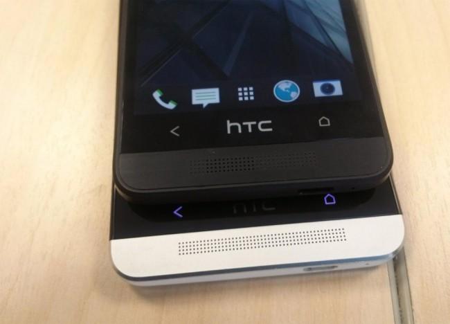 HTC One Mini im Größenvergleich mit dem HTC One.  Foto: forte.delphi.ee