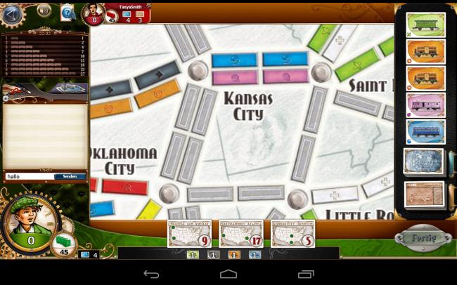 Das Spielbrett lässt sich stufenlos zoomen, so behalten Sie stets den Überblick über sämtliche Routen.