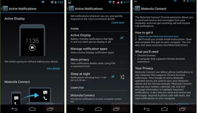 Mit Motorola Connect lassen sich Textnachrichten und verpasste Anrufe direkt auf den Computer weiterleiten.  Foto: Andoridheadlines.com.