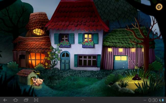 In diesem Spiel muss das Kind dafür sorgen dass die Lichter abgeschaltet werden und die Tiere einschlafen können.