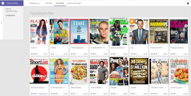 Die amerikanische Version von Play Magazine zeigt eine  beeindruckende Auswahl an englischsprachigen Magazinen zu größtenteils fairen Preisen.