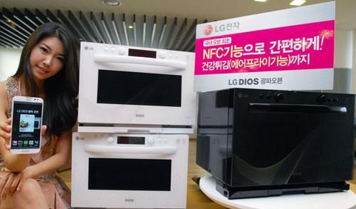 So sieht der NFC-basierte Ofen aus dem Hause LG aus...