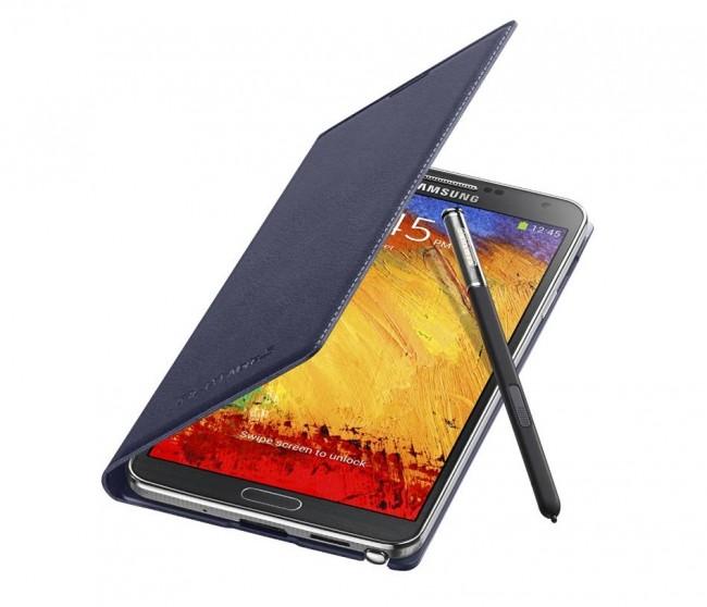 Zum Note 3 gibts jede Menge Zubehör, unter anderem ein Flipcase. (BQ: Samsung)