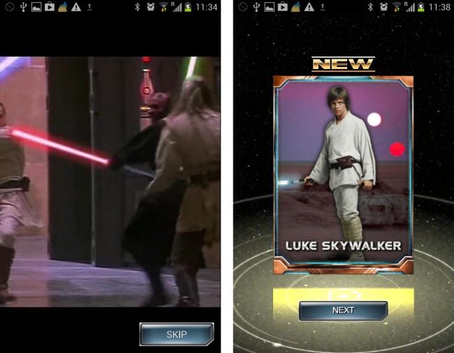 Dank der offiziellen Lizenz von Lucas Arts, dürfen Sie original Szenen aus den Star Wars Filmen sehen.