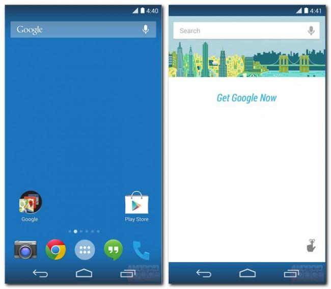 Die Leisten oben und unten werden transparent, Google Now wird stärker integriert.