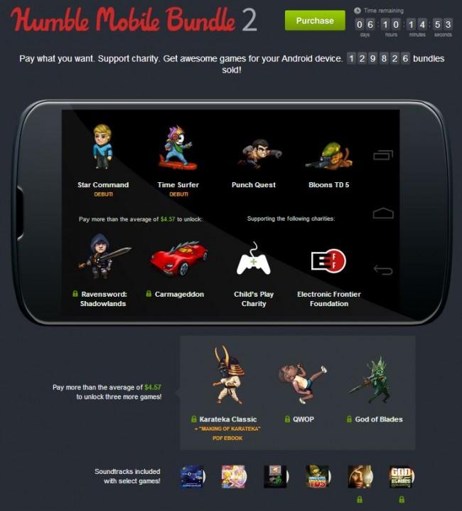 Das Humble Bundle bietet zusätzlich zu den bereits erhältlichen Spielen die Games: Karateka Classic, QWOP, und God of Blades an. Foto: Humble Bundle.