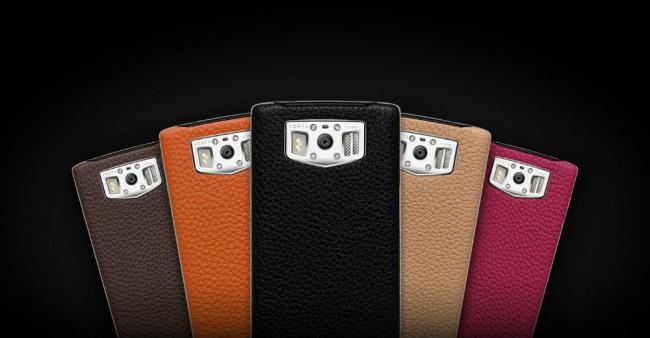 Die Rückseite des Smartphones besteht aus feinstem Leder, und ist in verschiedenen Farben erhältlich. Foto: Vertu.com.