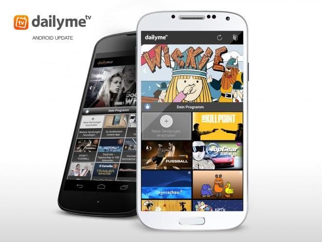 Das Update bringt neue TV-Formate und eine bessere Übersichtlichkeit. (Foto: DailyMe)