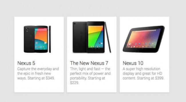 Die kostengünstigste Version des Nexus 5 soll laut Google für 349 US-Dollar erhältlich sein.
