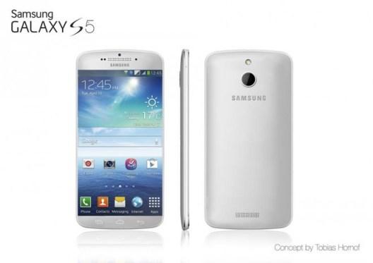 Könnte so ähnlich das Samsung Galaxy S5 aussehen? Das Konzept von Tobias Hornof bricht mit der aktuellen Designlinie von Samsung. (Bild: Tobias Hornof)