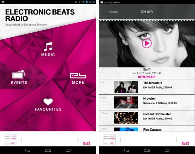 Neben einem Online-Radio gibt es auch einen On Demand-Service für Remixe und Live-Mitschnitte.