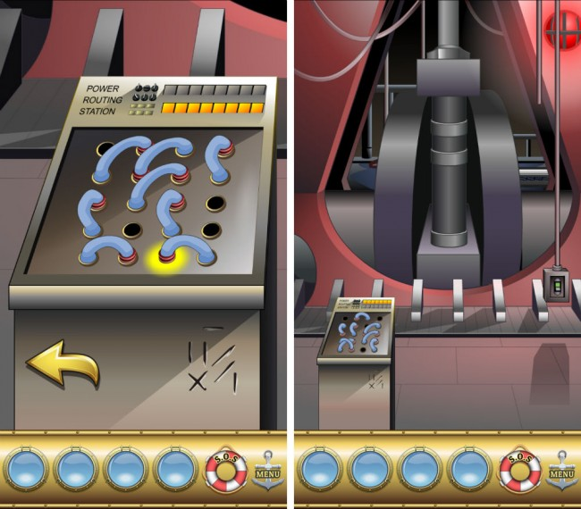 Im Maschinenraum musst du die Stromkabeln richtig verbinden damit die Maschine wieder läuft.