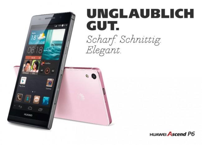 Der Nachfolger des Huawei Ascend P6 kommt mit einem echten Octa Core Prozessor auf den Markt. Foto: huaweidevices.de.