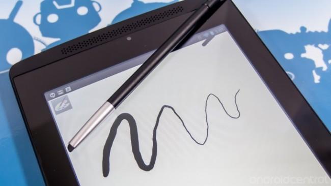 Der Stylus eignet sich hervorragend zum Zeichnen, je nach Anpressdruck, ändert sich die Strichstärke. Foto: Android Central.