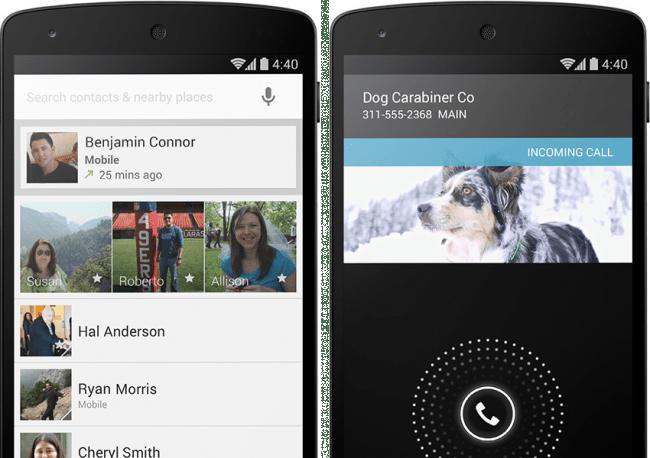 Der neue Dialer von Android 4.4 KitKat wurde einer Generalüberholung unterzogen.