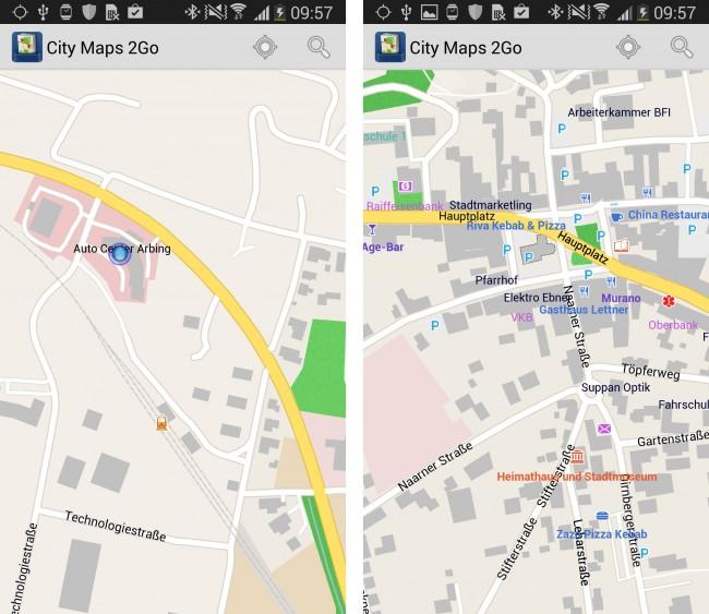 Die App CityMaps 2 Go wird ab Mittwoch 17:00 Uhr kostenlos im Play Store angeboten.