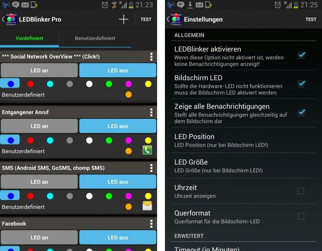 Du kannst für jede App eine andere Farbe festlegen.