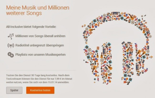 Der bisher nur in England und Amerika verfügbare All-You-Can-Eat-Dienst ist nun auch in Deutschland am Start (Bildquelle: MobileGeeks)