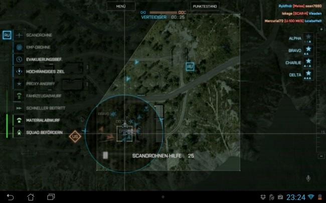 Via Drag and Drop können die unterschiedlichen Unterstützungsmodule von der linken Seite auf die Ziele gezogen werden.