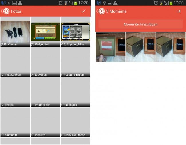Mit Flipagram können schnell Diashows im Video-Format erstellt werden.