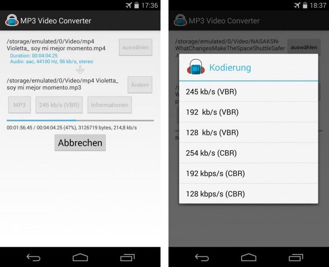Du kannst Detailinformationen in die Audiodatei einfügen – und die entstandene Datei gleich aus dem Konvertierer heraus abspielen.